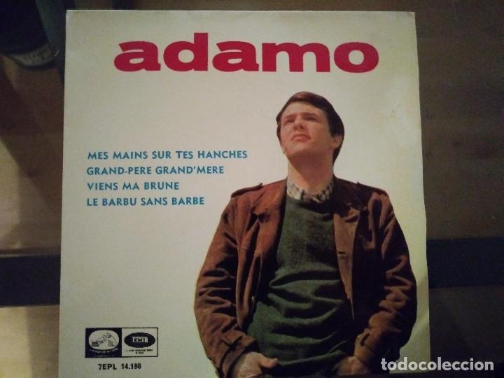 ADAMO – MES MAINS SUR TES HANCHES (Música - Discos de Vinilo - EPs - Cantautores Internacionales)