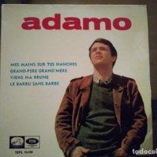 Discos de vinilo: ADAMO – MES MAINS SUR TES HANCHES. Lote 257579620