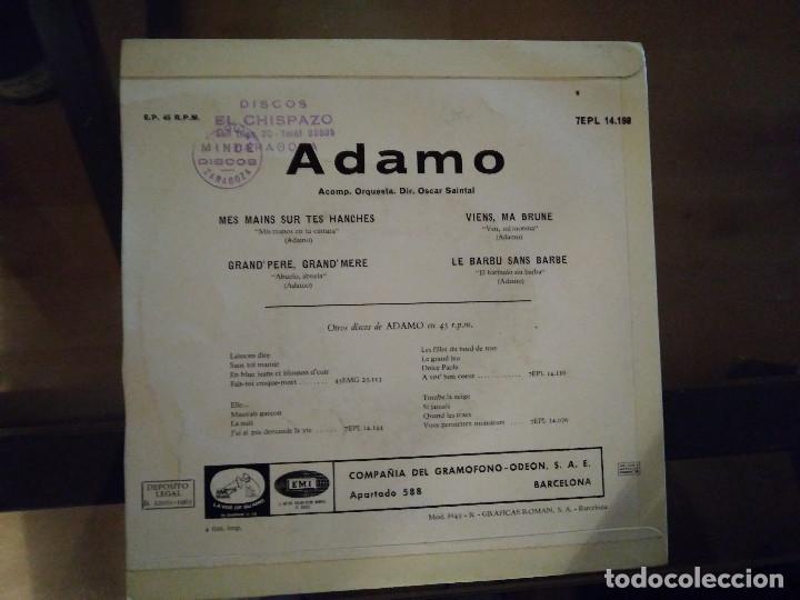 Discos de vinilo: Adamo – Mes Mains Sur Tes Hanches - Foto 2 - 257579620