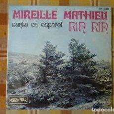Discos de vinilo: MIREILLE MATHIEU CANTA EN ESPAÑOL RIN RIN 1968. Lote 257586960