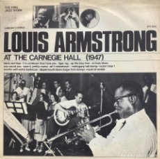 Discos de vinilo: LOUIS ARMSTRONG-AT THE CARNEGIE HALL 1947. Lote 257600625