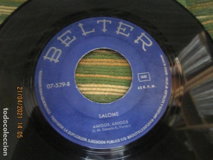 Discos de vinilo: SALOME - VIVO CANTANDO - EUROVISION 69 SINGLE ORIGINAL ESPAÑOL - BELTER RECORDS 1969 - MONOAURAL - Foto 4 - 257603825