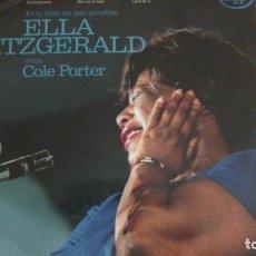 Discos de vinilo: EV'RY TIME WE SAY GOODBYE. ELLA FITZGERALD SINGS COLE PORTER. MFP, 1956. VINILO. Lote 257606400