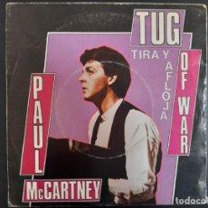 Discos de vinilo: SINGLE PAUL MCCARTNEY TUG OF WAR ODEON-1982 ESPAÑA BEATLES. Lote 257615855