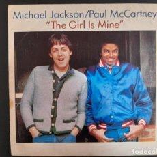 Discos de vinilo: SINGLE MICHAEL JACKSON /PAUL MCCARTNEY - THE GIRL IS MINE - ESPAÑA - AÑO 1982 BEATLES. Lote 257617685