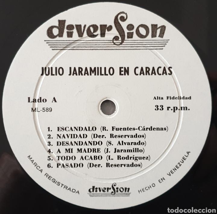 Discos de vinilo: LP JULIO JARAMILLO - En Caracas (Venezuela - Diversion - 1960) NUEVO IMPECABLE!! - Foto 4 - 213745901