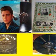 Discos de vinilo: ELVIS PRESLEY / ELVIS CHRISTMAS ALBUM 1964!! RARA EDIC. USA 1º LABEL RCA LSP 1951 PERRO !! EXCELENTE. Lote 257627370
