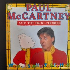 Discos de vinilo: SINGLE PAUL MCCARTNEY AND THE FROG CHORUS SINGLE 1984 PROMOCIONAL ESPAÑA SIN ESTRENAR BEATLES. Lote 257628080