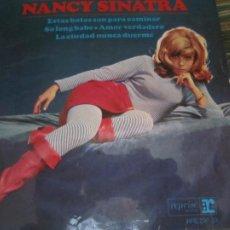 Discos de vinilo: NANCY SINATRA - ESTAS BOTAS SON PARA CAMINAR EP - ORIGINAL ESPAÑOL - REPRISE RECORDS 1965 MONOAURAL. Lote 257632345