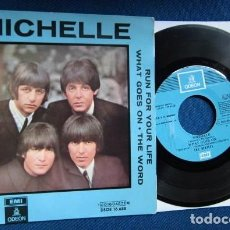 Disques de vinyle: BEATLES SINGLE EP RE EDICION EDITADO POR EMI ODEON ESPAÑA AÑOS 70 LABEL AZUL CIELO. Lote 257634830