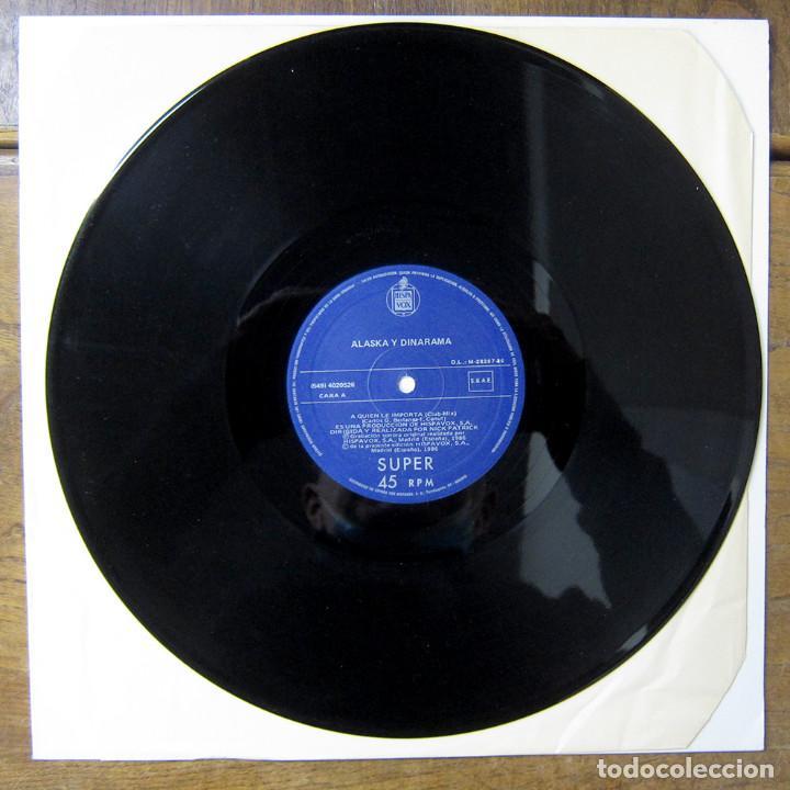 Discos de vinilo: ALASKA Y DINARAMA - A QUIÉN LE IMPORTA (CLUB MIX) / BOTE DE COLÓN (CLUB MIX) - 1986 - MAXI - Foto 3 - 257646135