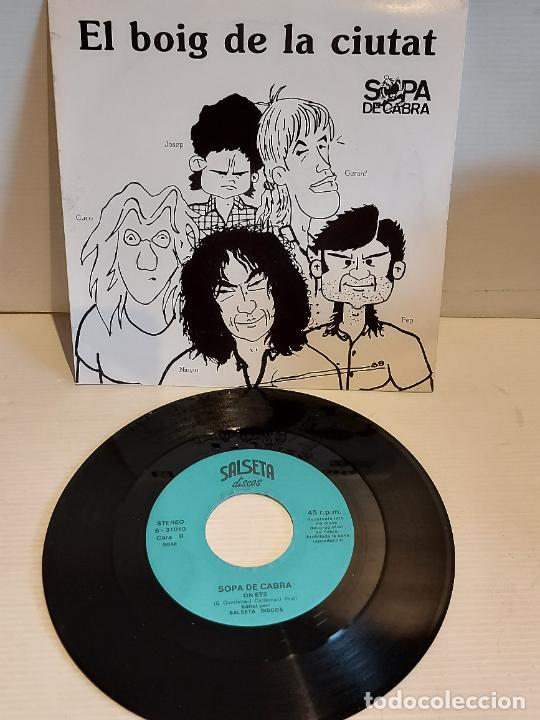 SOPA DE CABRA / EL BOIG DE LA CIUTAT / SINGLE - SALSETA DISCOS-1989 / IMPECABLE. ****/**** (Música - Discos - Singles Vinilo - Grupos Españoles de los 90 a la actualidad)