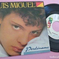 """Discos de vinilo: LUIS MIGUEL - PERDONAME - SINGLE RADIO 7"""" - 1988 SPAIN. Lote 257661195"""
