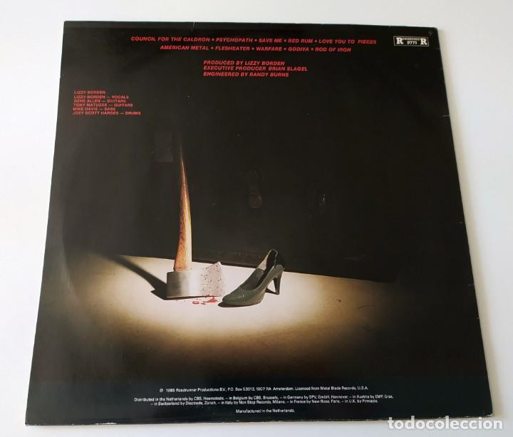 Discos de vinilo: LP LIZZY BORDEN - LOVE YOU TO PIECES - Foto 2 - 257662195