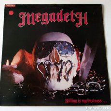 Discos de vinilo: LP MEGADETH - KILLING IS MY BUSINESS...AND BUSINESS IS GOOD. Lote 257662675