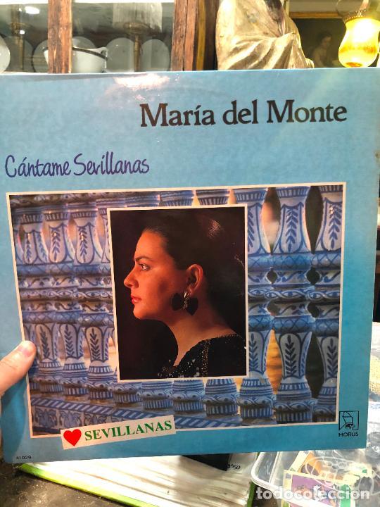 LP MARIA DEL MONTE - CANTAME SEVILLANAS (Música - Discos - LP Vinilo - Flamenco, Canción española y Cuplé)