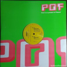 "Discos de vinilo: 12"" AMANITE FX & PRANA - BLACK RAIN - POF MUSIC 458 0009 30 - FRANCE PRESS - MAXI (EX+/EX+). Lote 257671975"