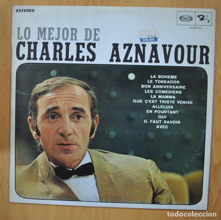 CHARLES AZNAVOUR - LO MEJOR DE - LP (Música - Discos - LP Vinilo - Canción Francesa e Italiana)