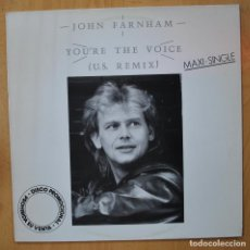 Discos de vinilo: JOHN FARNHAM - YOU´RE THE VOICE - MAXI. Lote 257674265