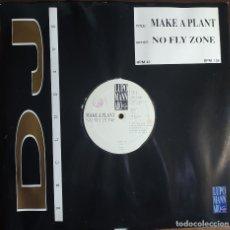 "Discos de vinilo: 12"" NO FLY ZONE - MAKE A PLANT - LUPOMANNARO LMIX 016 - ITALY PRESS - MAXI (EX/EX+). Lote 257674935"
