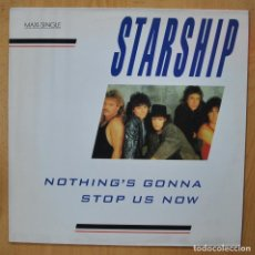 Discos de vinilo: STARSHIP - NOTHING´S GONNA STOP US NOW - MAXI. Lote 257675125