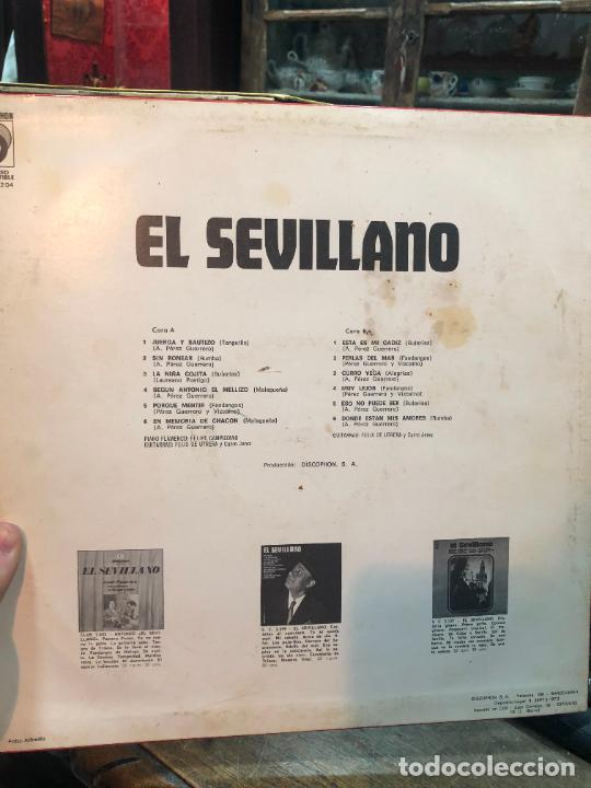 Discos de vinilo: LP EL SEVILLANO - Foto 2 - 257682745