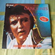 Discos de vinilo: ELVIS PRESLEY - CANCIONES DE AMOR LP 1979 K-TEL ANUNCIADO EN T.V.E. VERSIONES ORIGINALES. Lote 257685640