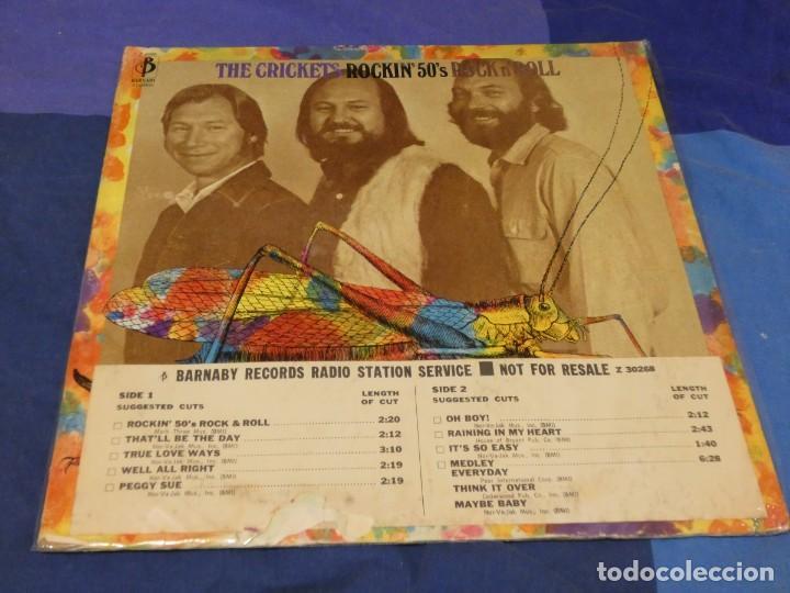 LP USA 1972 THE CRICKETS ROCKING 50S ROCK AND ROLL VINILO BIEN C/PORTADA FEOTA PROMO (Música - Discos - LP Vinilo - Pop - Rock - Internacional de los 70)