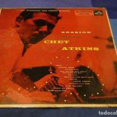 Discos de vinilo: LP USA 60 A SESSION WITH CHET ATKINS GRAN MANCHA ATRAS TUTE EN VINILO GUARDA ALGO DE DECENCIA. Lote 257689270