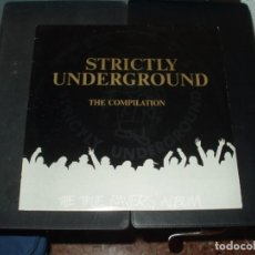 Discos de vinilo: STRICTLY UNDERGROUNDLP DOBLE THE TRUE RAVERS ALBUM. Lote 257696840