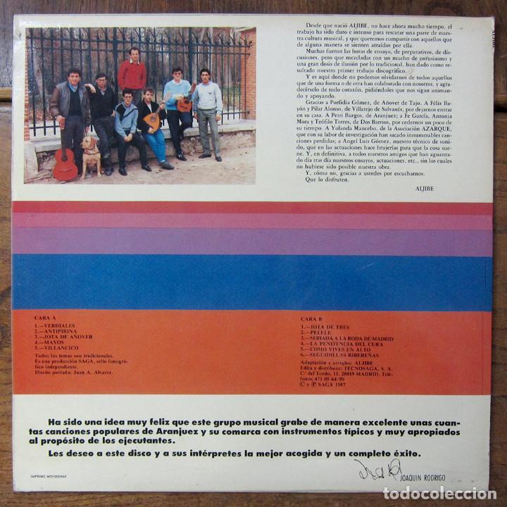 Discos de vinilo: ALJIBE - SURCO ARRIBA, SURCO ABAJO - 1987 - TRADICIONAL, FOLK, LA MANCHA - Foto 2 - 257698390