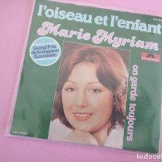 Disques de vinyle: MARIE MYRIAM – L'OISEAU ET L'ENFANT EUROVISION. Lote 257701545