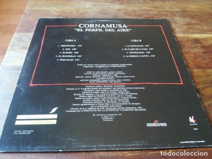 Discos de vinilo: Cornamusa - el perfil del aire - lp original nuba records año 1991 - folk aragones - Foto 2 - 257708065