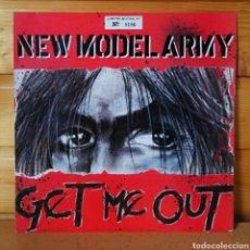 "Discos de vinilo: 10"" NEW MODEL ARMY , GET ME OUT. Lote 257710505"