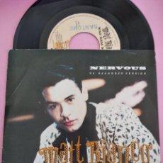 Discos de vinilo: MATT BIANCO - NERVOUS / WAP BAM BOOGIE (SINGLE PROMO ESPAÑOL, WEA 1989). Lote 257714565