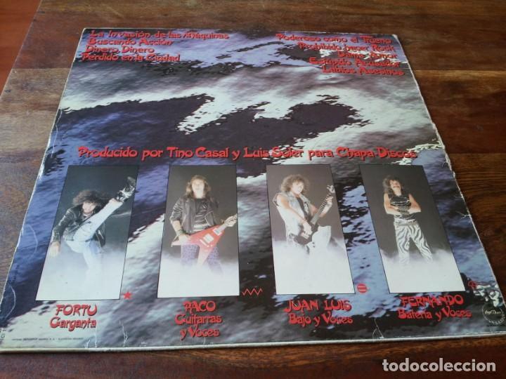 Discos de vinilo: Obus - Poderoso como un trueno - lp original chapadiscos año 1982 con encarte y letras - Foto 2 - 257715395