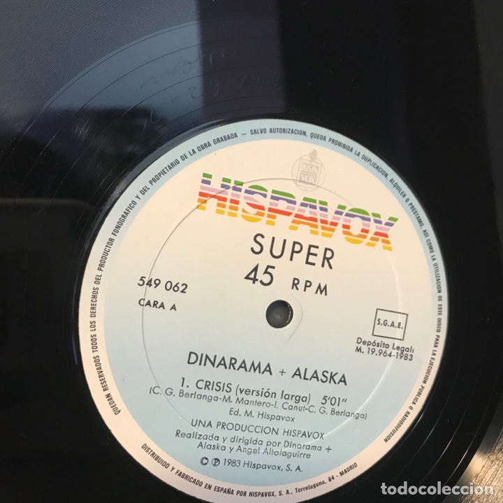Discos de vinilo: Dinarama + Alaska – Crisis - Foto 5 - 257735490