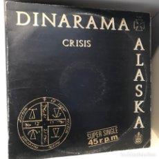 Discos de vinilo: DINARAMA + ALASKA – CRISIS. Lote 257735490