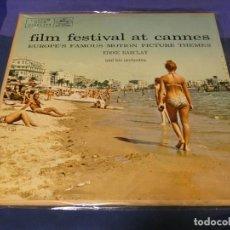 Discos de vinilo: LP USA CIRCA 1962 EDDIE BARCLAY AND ORCHESTRA FILM FESTIVAL AT CANNES BUEN ESTADO GENERAL. Lote 257737760