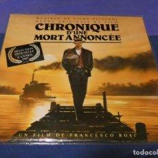 Discos de vinilo: LP BSO OST BANDA SONORA DE LA PELI CRONICA DE UNA MUERTE ANUNCIADA FRANCIA 1987 MUY BUEN ESTADO. Lote 257739115