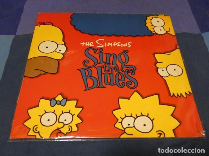PRECIOSO LP THE SIMPONS SING THE BLUES MUY BUEN ESTADO GENERAL TIENE ENCARTE (Música - Discos - LP Vinilo - Pop - Rock - Internacional de los 70)