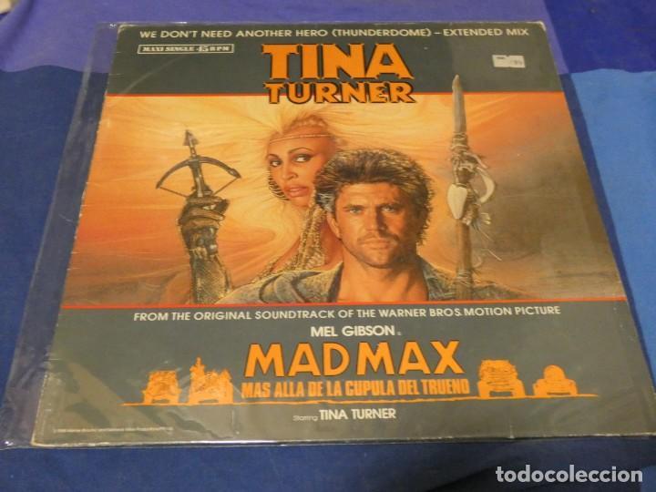MAXISINGLE BSO DE MAD MAX 3 TINA TURNER WE DON´T NEED ANOTHER HERO BUEN ESTADO (Música - Discos - LP Vinilo - Pop - Rock - Internacional de los 70)