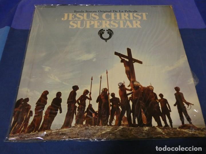 DOBLE LP BSO OST BANDA SONORA JESUCRISTO SUPERSTAR ESPAÑOL BUEN ESTADO TAPA AMARILLEA UN POCO (Música - Discos - LP Vinilo - Pop - Rock - Internacional de los 70)