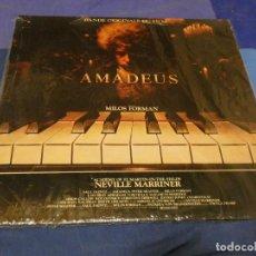 Discos de vinilo: BESTIAL DOBLE LP BSO OST BANDA SONORA BUEN ESTADO AMADEUS MUSICA DE NEVILLE MARRINER MILOS FORMAN. Lote 257740985