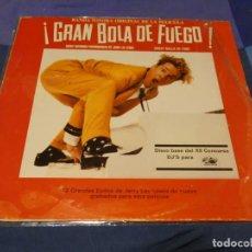 Discos de vinilo: LP BSO OST BANDA SONORA DE LA PELI GRAN BOLA DE FUEGO-JERRY LEE LEWIS. Lote 257741250