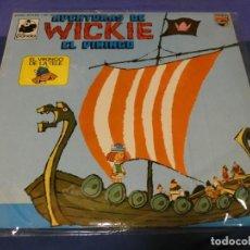 Discos de vinilo: PRECIOSO LP AVENTURAS DE WICKIE VICKY EL VIKINGO 1975 MUY BUEN ESTADO DE DISCO. Lote 257741330