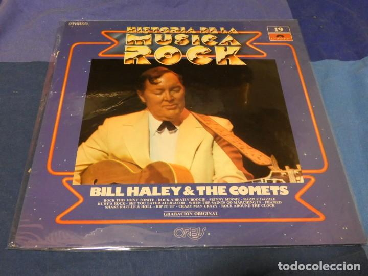 LP HISTORIA DE LA MUSICA ROCK 19 BUDDY HOLLY BUEN ESTADO GENERAL (Música - Discos - LP Vinilo - Pop - Rock - Internacional de los 70)