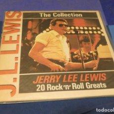 Discos de vinilo: LP BULGARIA CIRCA 1984 JERRY LEE LEWIS 20 ROCK AND ROLL GREATS VINILO BIEN TAPA FRAGIL. Lote 257741580