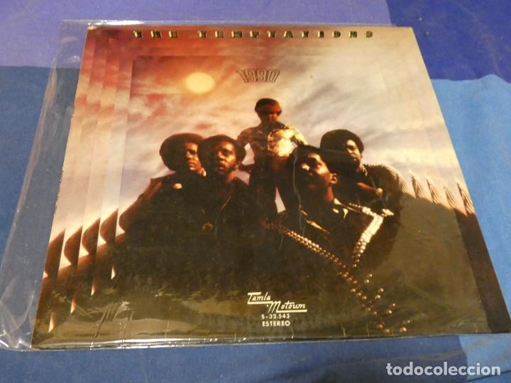 LP FUNK SOUL ESPAÑA 1974 THE TEMPTATIONS 1990 APERTURA SUPERIOR VINILO CORRECTO ALGUNAS LINEAS LEVES (Música - Discos - LP Vinilo - Pop - Rock - Internacional de los 70)