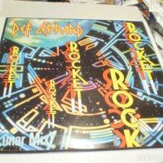 Discos de vinilo: MAXI SINGLE DEF LEPPARD. ROCKET. VERTIGO 1989 CANADA (PROBADO, BIEN, SEMINUEVO). Lote 257742175